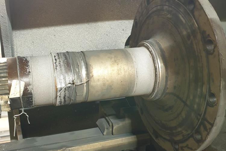 Ремонт вала бортовой методом газопламенного напыления