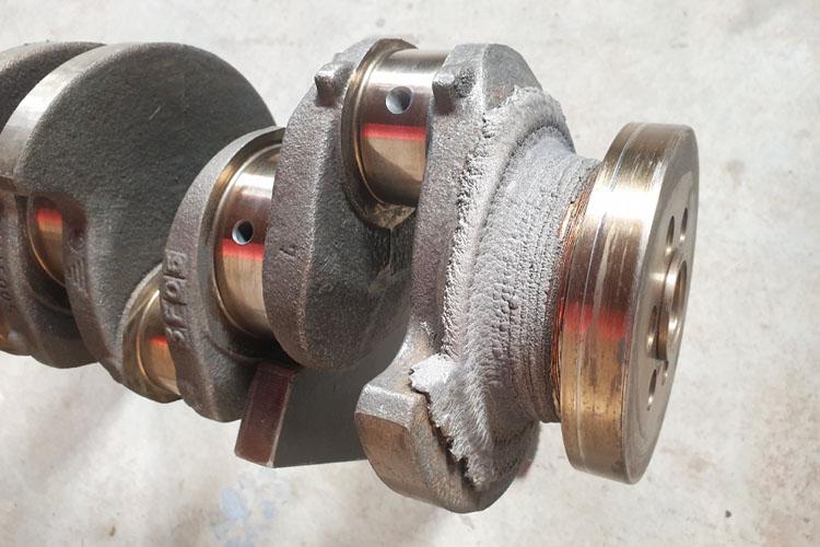 Восстановление коленчатого вала методом напыления металла